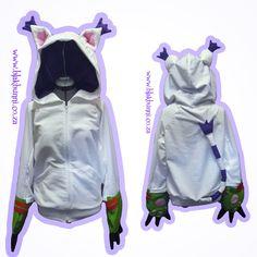 MADE TO ORDER Gatomon inspired hoodie Tailmon Digimon Cathoodie by BlakBunni on Etsy https://www.etsy.com/listing/229790703/made-to-order-gatomon-inspired-hoodie