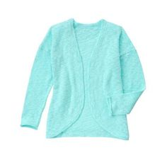 Girls Mint Open Front Cardigan by Gymboree