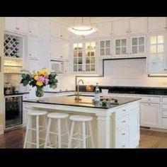 White kitchen cabinet idea