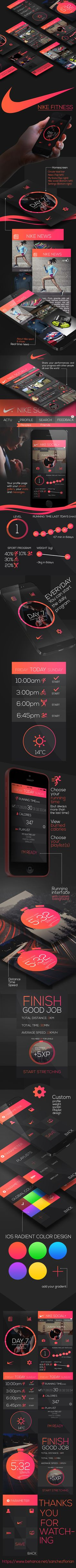 Nike Fitness Design APP by Florian Sanchez, via Behance