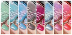 Colors by Llarowe Spring 2016 Collection Swatches and Review, A Tribute To A Wonderful Friend, CBL, Shimmer, Flakes, Holographic, Swatches of CbL