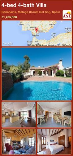 4-bed 4-bath Villa in Benahavis, Malaga (Costa Del Sol), Spain ►€1,495,000 #PropertyForSaleInSpain