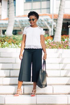 ad2109e702 how to wear culottes to work Over 40 Outfits