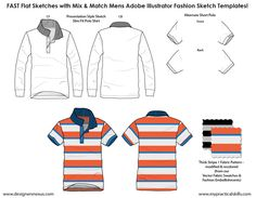 MIX & MATCH 1,045+ SILHOUETTES & DETAILS: Adobe Illustrator Men's flat fashion sketch templates developed specifically to reduce flat sketching time for menswear designers! Full range of garments contains everything menswear designers need for quick sketching of menswear flats in Adobe Illustrator!