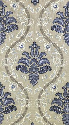 Scalamandre Isabella, porcelain embroidery