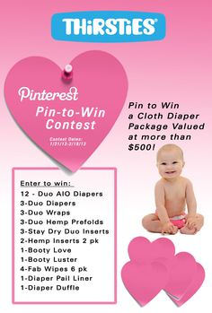 Enter to win a Thirsties Prize Package valued at $500+ Check their Facebook to enter!