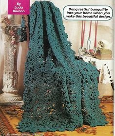 Hey, I found this really awesome Etsy listing at https://www.etsy.com/listing/217960165/lacy-afghan-crochet-pattern-blanket