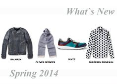Fashion Men Spring 2014 #spring #2014 #men #fashion #dmafashion #shoes #accessories #balmain #oliverspencer #gucci #burberry