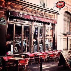 Paris Decor- Paris Photography- Home Decor- Wall Art-    Paris France, Bistro Art, Cafe Photography- 8x8- The Bistro. $30.00, via Etsy.