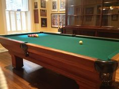 Antique Brunswick Pool Table Room