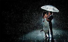 свадебная фотосессия под дождём