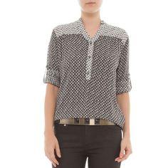 67 Camisa África - preto e branco - OQVestir
