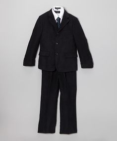 Loving this Navy Blue Corduroy Five-Piece Suit - Infant, Toddler & Boys on #zulily! #zulilyfinds