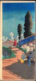 木版画、高橋松亭 SHOTEI TAKAHASHI 鷹島見聞録 浮世絵