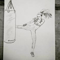 When I started boxing I didn't know what it would lead me to. - When I started boxing I didn't know what it would lead me to. I found a warrior inside me that is - Girl Drawing Sketches, Art Drawings Sketches Simple, Pencil Art Drawings, Easy Drawings, Person Drawing, Drawing People, Fighting Drawing, Sports Drawings, Dancing Drawings