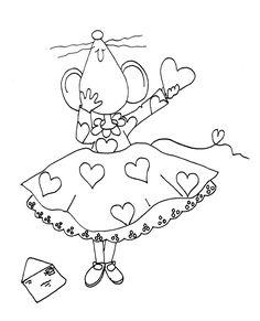 Free Dearie Dolls Digi Stamps: Miss Mousie's Valentine Card
