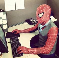 We were told that he's an awesome web designer. Testing his skills...