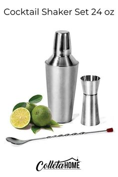 Martini Shaker, Built in Strainer, Mixing Spoon with Double Sided Jigger, Mirror Finished – Mojito Kit Kitchen Items, Kitchen Tools, Kitchen Utensils, Fall Kitchen Decor, Tray Styling, Food Service Equipment, Kitchen Trends, Stainless Steel Kitchen, Bar Tools