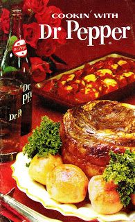 """Scans of a complete """"Cookin' With Dr Pepper"""" recipe book from 1965 #SicEm"""