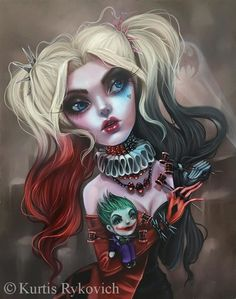 You where my queen my harley quinn.but me your king, your joker.all i was to you was a jester a joke and now ill show you Joker Und Harley Quinn, Harley Quinn Drawing, Character Drawing, Comic Character, Harley Quenn, Prince Charmant, Goth Art, Dark Fantasy Art, The Villain