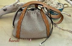 Hobo bags ...Πουγκί handibrand  crochet bag Handmade Bags, Tote Bag, Hobo Bags, Bucket Bag, Handbags, Crochet Bags, Ideas, Fashion, Sacks