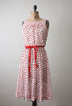 1960's strawberry print sundress