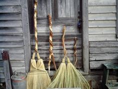 Wedding brooms? LOVE this shot and those handles! - #brooms