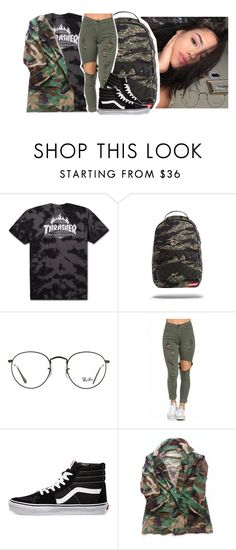 """""""Put That On My Set ~ A$AP Rocky"""" by retrovintagepizza ❤ liked on Polyvore featuring Ray-Ban and Vans"""
