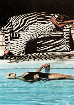 I L O V E this picture by Helmut Newton for Vouge Magazine in 1973... Sooo nice colours..and the sofa vs. dress thing is fabulous!!