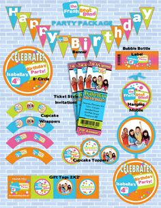 FRESH BEAT BAND Inspired Birthday Party Package - Printable and Customized with your party details.. $20.00, via Etsy.