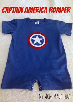Captain America Romper - My Mom Made That
