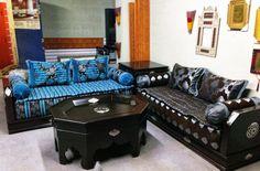 Salon marocain moderne en cuir