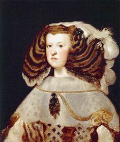 Portrait of Mariana of Austria, Queen of Spain - Diego Velazquez