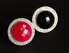 Statement Pink ring - Zircon silver ring - Gemstone ring - Bezel set