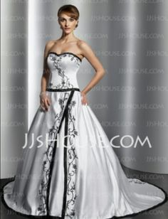 A twist to a traditional gown.