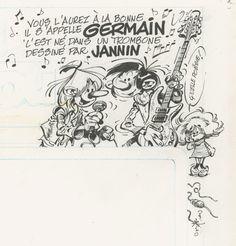 "fredjannin: "" J'ai retrouvé ceci. Ouaaaaaah ! Germain dans spirou… """