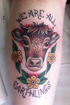 We Are All Earthlings Vegan Tattoo tattooideaslive #vegan #earthlings #tattoos
