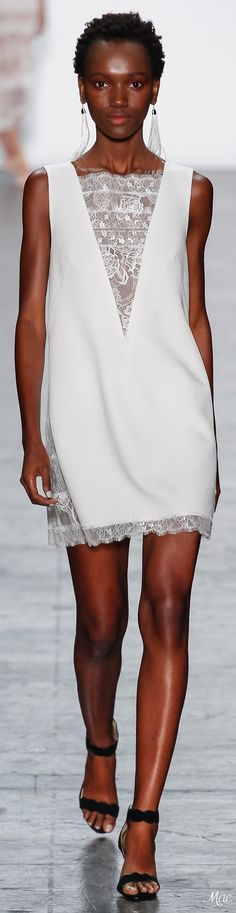 ba5345a6d62 White dress · Spring 2017 Ready-to-Wear Tadashi Shoji New York Fashion, Fashion  Trends 2017