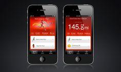 Nike+ GPS by Adam Jesberger, via Behance