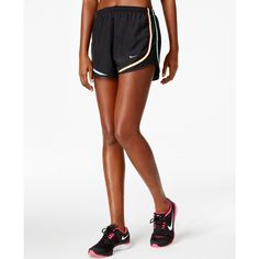 Nike Dri-fit Tempo Running Shorts ($23) ❤ liked on Polyvore featuring activewear, activewear shorts, nike, nike sportswear and nike activewear