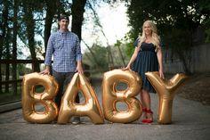 Balloon pregnancy announcement! #pregnant