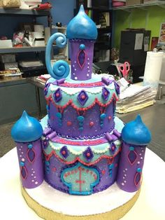 Shimmer & Shine Birthday Cake - Adrienne & Co. Bakery