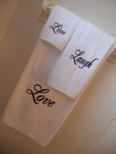 www.ironhorsestitching.com Bath Towel, Hand Towel, Face Towel. $30.