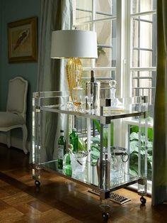 Bar Carts  via Conspicuous Style Interior Design Blog