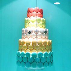 Macaroon cake - baby or bridal shower idea!