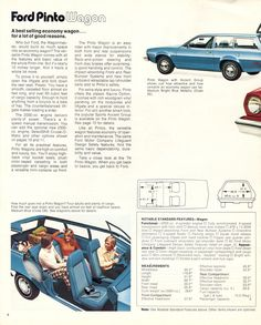 Ford 1974 Pinto Sales Brochure Ford Pinto, Military Jeep, Mclaren Mercedes, Lincoln Mercury, Chrysler Jeep, Ford Models, Exterior Colors, Buick, Cadillac