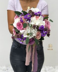 "3 aprecieri, 0 comentarii - BLOOMERIA (@bloomeria.ro) pe Instagram: ""𝘾𝙤𝙡𝙤𝙧𝙨 💜🌸 #bloomeria #welcometotheworldofflowers #colors #bouquet"" Bouquet, Colors, Instagram, Bunch Of Flowers, Bouquets, Colour, Color, Hue"