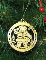 Santa Claus Brass Ornament #christmasornaments #personalizedchristmasornaments