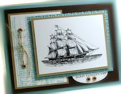 LOVE this stamp set! ---- SU The Open Sea