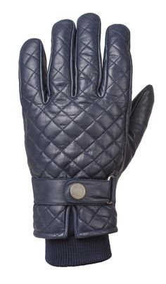 RIDE&SONS Bullit Insulated Leather Glove Midnight Blue